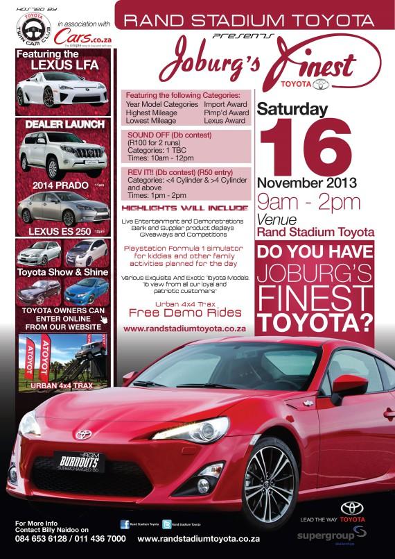 Toyota Jozi's Finest_PosterA3